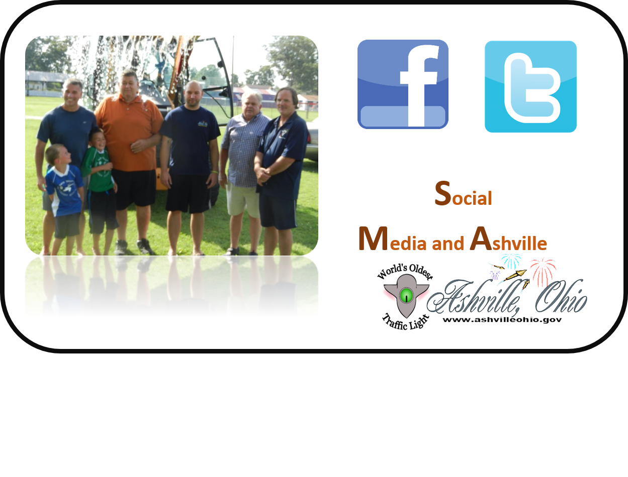 Ashville now has a Facebook and Twitter Page