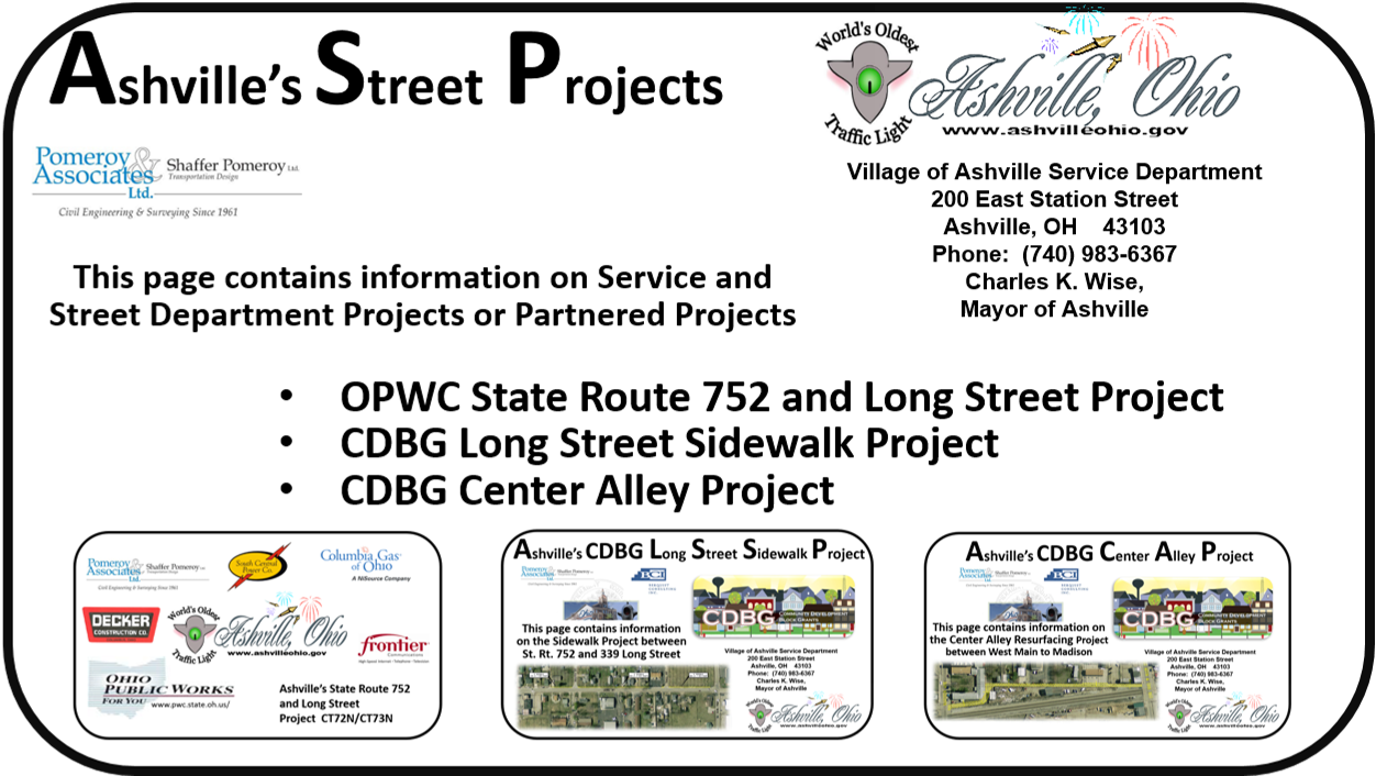 Street and Service Department Improvement Projects